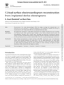 12-lead surface electrocardiogram reconstruction from implanted device electrograms