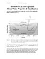 Homework 5- Background Ocean Water Properties & Stratification
