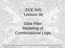 Data Flow Modeling of Combinational Logic