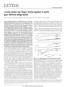 A low mass for Mars from Jupiter's early
