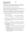 Exam III