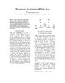 Performance Evaluation of Public Key Cryptosystems