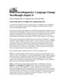 Language Change Wardhaugh chapter 8