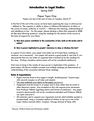 Introduction to Legal Studies Paper Topic 1