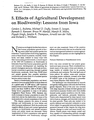Effects of agricultural development on biodiversity