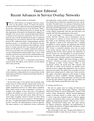 Recent Advances in Service Overlay Networks