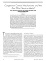 Congestion Control Mechanisms and the Best Effort Service Model