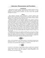 Laboratory Measurements and Procedures