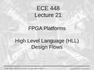 Lecture 21 FPGA Platforms