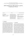NIST Standards for Microanalysis and the Certification Process