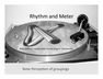 Lecture Notes on Rhythm and Meter