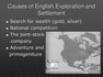 Causes of English Exploration and Settlement