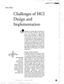 Challenges of HCI Design and Implementation
