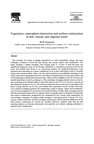 Vegetation-Atmosphere Interaction and Surface Conductance at Leaf, Canopy and Regional Scales