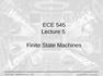 Lecture 5 Finite State Machines