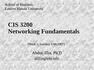 CIS 3200 Networking Fundamentals