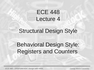 Lecture 4 Structural Design Style