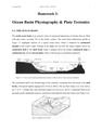 Homework 3- Ocean Basin Physiography & Plate Tectonics