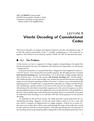 Viterbi Decoding of Convolutional Codes