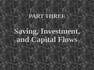 Saving, Investment, and Capital Flows