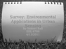 Environmental Applications in Urban Sensing