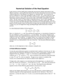 Numerical Solution of the Heat Equation
