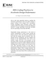 HDL Coding Practices to Accelerate Design Performance