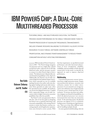 IBM POWER5 CHIP: A DUAL-CORE MULTITHREADED PROCESSOR