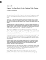 Experts Try Fast-Track Fix for Children With Phobias
