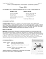 BA471: Management Information Systems Syllabus