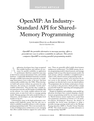 An Industry- Standard API for Shared- Memory Programming