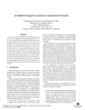 An Optimal Strategy for Anonymous Communication Protocols