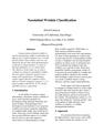 Nasolabial Wrinkle Classification