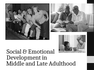 Outline 241 2016-2017 Socioemotional Development in Middle and Late adulthood