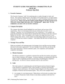STUDENT GUIDE FOR WRITING A MARKETING PLAN