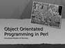Object Orientated Programming in Perl