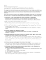 Mass Wasting and Subsidence Review Questions Answer Key-2