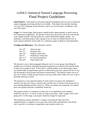 Final Project Guidelines