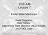 Lecture 7 Finite State Machines