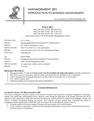 MGT201 Syllabus