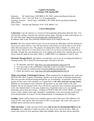 Cognitive Psychology syllabus