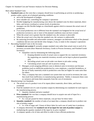 Chapter 16 Outlines