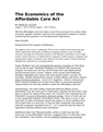 The Economics of the Affordable Care Act