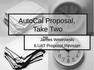 AutoCal Proposal