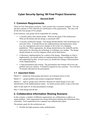 Cyber Security Spring '08 Final Project Scenarios