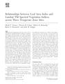 Relationships between Leaf Area Index and Landsat TM Spectral Vegetation Indices
