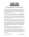 Stress Management Part 5: Murielle Rasmussen