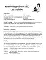 BioSc 221 Lab Syllabus