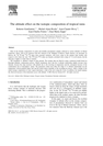 The Altitude Effect on the Isotopic Composition of Tropical Rains