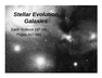Stellar Evolution Galaxies